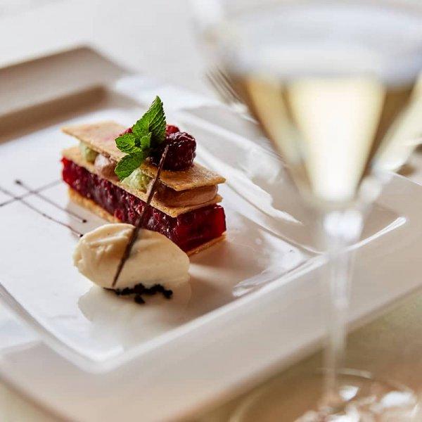 Culinary enjoyment at hotel Auriga