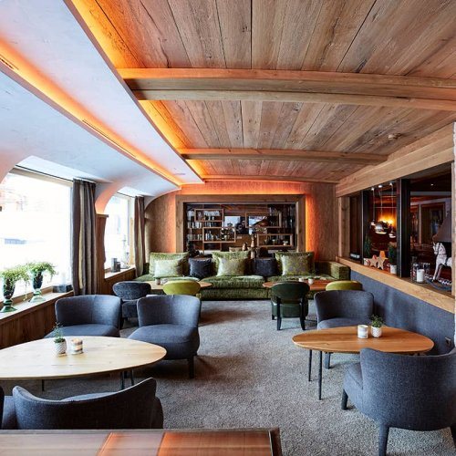 Lounge area of our hotel in Lech