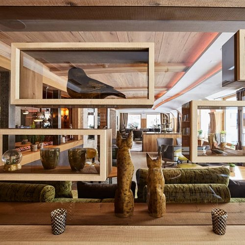 The decoration of Auriga hotel in Lech