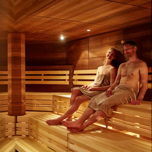 Relax in our spa area in Lech
