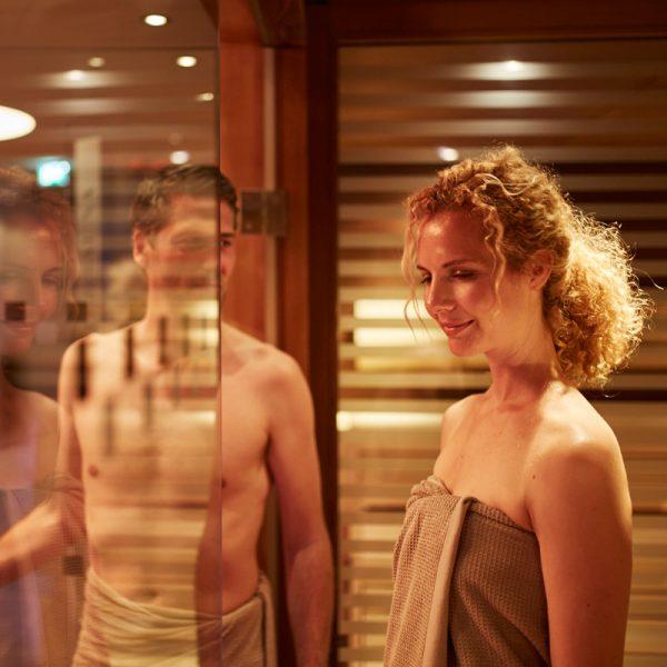 Saunagang im Spa im Wellnesshotel Auriga