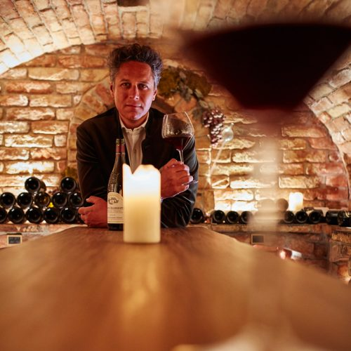Host and wine expert Ingo Strolz