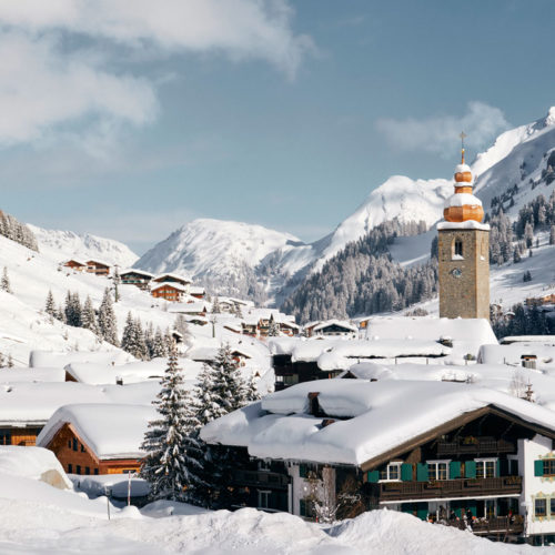 Lech am Arlberg in winter