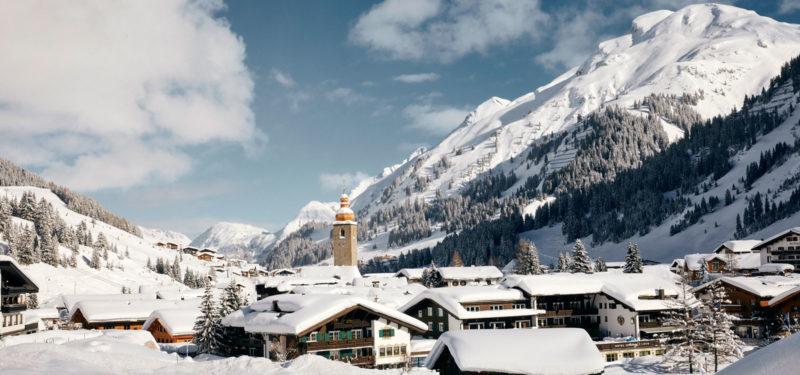 Winterliches Lech am Arlberg - Hotel Auriga