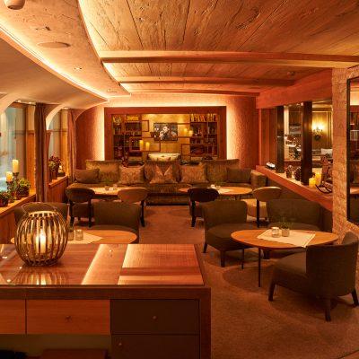Cozy lobby of the Hotel Auriga in Lech am Arlberg