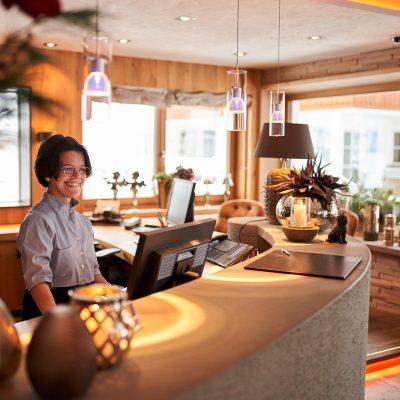 Reception Hotel Auriga in Lech am Arlberg