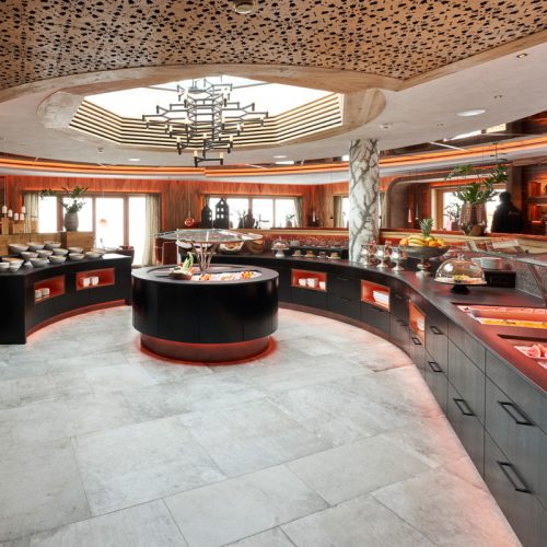 The unique concept of the buffet in the Hotel Auriga
