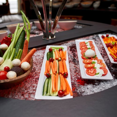 Breakfast buffet in the Hotel Auriga in Lech