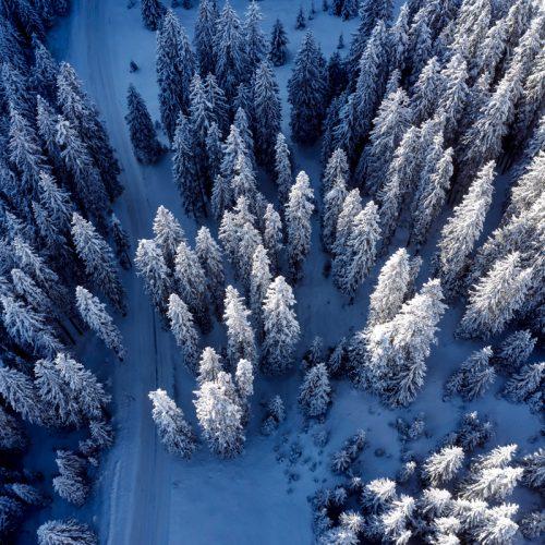 Winterlandschaft in Lech am Arlberg